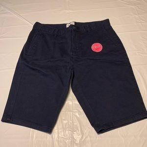 Cat & Jack Navy Stretch Bermuda Chino Shorts